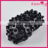Wholesale vogue small size black decorative buttons accessory button for clothing WBKA-298