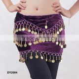 Plus size tribal belly dance hip scarf belly dancing hip belt belly dance coins belt