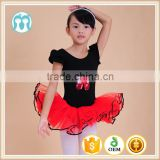 2015 wholesale babi girls stage wear black kid dance leotard tutu dress