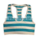 seamless stripe bandeau sport tank top cami bra with mesh back and color yarn