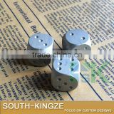 Silver Plating Creation Folk Arts Metal Rolling Dice in Long Square Silver Color Metal Packing Box