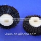 4 inches customized high quality industrial grinding round nylon bristle polish wheel brush with plastic core
