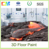 New design excellent stain good penetration epoxy 3D floor paint with low price