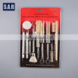 Factory customized car spray gun cleaning brushes gun kit