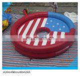 2017 United States Flag bull rodeo inflatable mechanical bull mattress