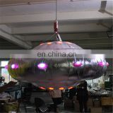 new creative lighting shiny UFO balloon with colorful LED light inflatable for party&bar&event decoration