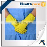 Latex extra long latex rubber flock lined household gloves