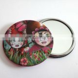 Beautiful picture tinplate mirror, pocket mirror,mini mirror