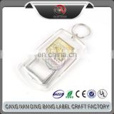 High Quality Promotional Gifts High Transparency Blank Cheap Advertising Acrylic Keyring Bottle Opener