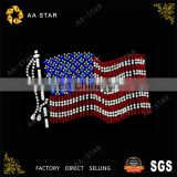 Hot sale bright united states flag iron on rhinestone motif