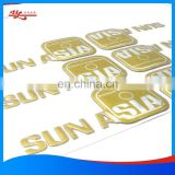 Custom PET and PVC soft plastic logo with adhesive