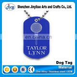 blue dog tag necklace for singer