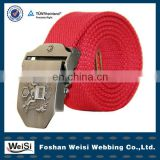 special design eagle buckle red custom mens fabric belt
