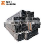 Q235 Carbon steel pipe with black painted, rectangular steel tube profile, straight seam welded steel tube