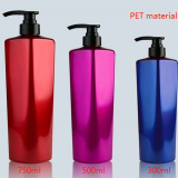 Guangzhou Cosmetic PET Plastic Shampoo Shower Gel Bottle