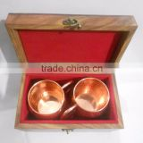 Copper Moscow Mule Mug Set Of Two With Wooden Box, Copper Mug With Custom Packing Service