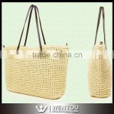 Wholesale Weave Natural Straw Beach Bag Straw Shoulder Bag                                                                         Quality Choice