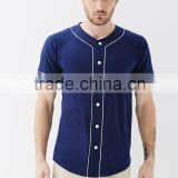 Blue Screen Golf Mens Classic Cut and Sew Baseball Jersey Polo T-shirt