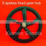 Sonata carbon wheels 5 spoke 65mm clincher road bike wheel 5 spokes rear wheel fixed gear hub single speed wheel