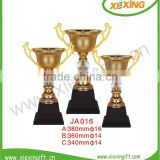2014 custom high-end metal gold soccer ball trophy