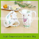 unique shape coffee cup with printing, mugs gifts valentine day, sublimation mug for sale