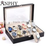 C36 ANPHY 12 pcs Large Watch Box Watch Holder Box with Pillow                                                                         Quality Choice