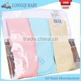 NJ-TN-003 3-pack solid 100% combed cotton dry fit baby burp cloth