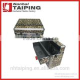 Leopard Print Heavy Duty Aluminum Brief Case Storage Case