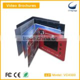 hot sale 4.3 inch lcd screen video brochure video book video booklet for advertising VC4300