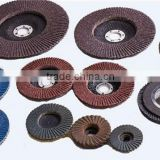 abrasive flap disc of aluminum oxide, calcined abrasive, zirconia for stainless steel etc