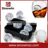 2016 New Arrival Bar Drink Round Ice Balls Maker Tray Four Sphere Molds Cube Whiskey Cocktails