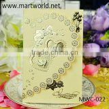 wholesale handmade 3d royal invitation card for engagement and wedding, OEM greeting card design (MWC-022)