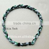 2011 Hot selling titanium braided necklace with 55colors
