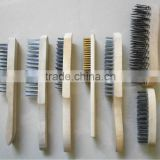 High quality wooden handle carbon steel brush