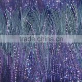 sequined dress fabric african lace fabrics fashion french dress fabric textiles with purple sequin