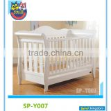 Hand Carved Wood White Baby Cots Used Toddler Beds For Sale                                                                         Quality Choice
