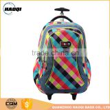 Factory New design Polyester Kids Trolley school bag for girls                                                                                                         Supplier's Choice