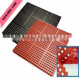 "Non slip rubber mat with drainage holes for pool China manufacturer 12MM X 914mm X 1524mm 1/2"" x 3' x 5'"