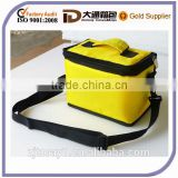 Yellow Large Shoulder Folding Insulated Fitness Meal Bag Cooler Bag