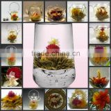 Organic drink and decorate art tea ball blooming tea blossom tea and flower wishpering