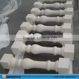 Top quality white granite handrails for outdoor steps