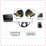2014 China manufacturer 2 in 1 Mini Displayport Male to HDMI + VGA Female Adapter converter cable for Mac Pro Air