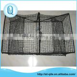 Customized cheap pe trap net metal rectangle pot crab trap folding