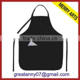 china wholesale promotional black pe disposable polyester aprons with custom logo printed