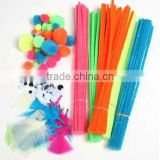 stock craft supplies craft tinsel pom poms and craft 30mm chenille stems for toy accessories
