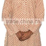 Cotton Hand Block Print Long Kurta from Jaipur