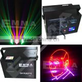 New Professional 5w RGB multi color laser lights, animation laser show system for DJ Pro disco clubs High speed scanner 40 kpps