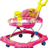 New luxury Baby walker /multiple toy music function plastic baby walker