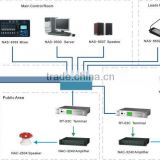 ip pa remote control system for school/horn speaker and ip network intercom terminal/power amplifier
