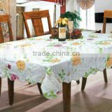 printed Vinyl table cloth with flannel backing,oblong table cloth, daily using household items